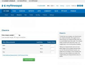 MyFitnessPal Screenshot 1